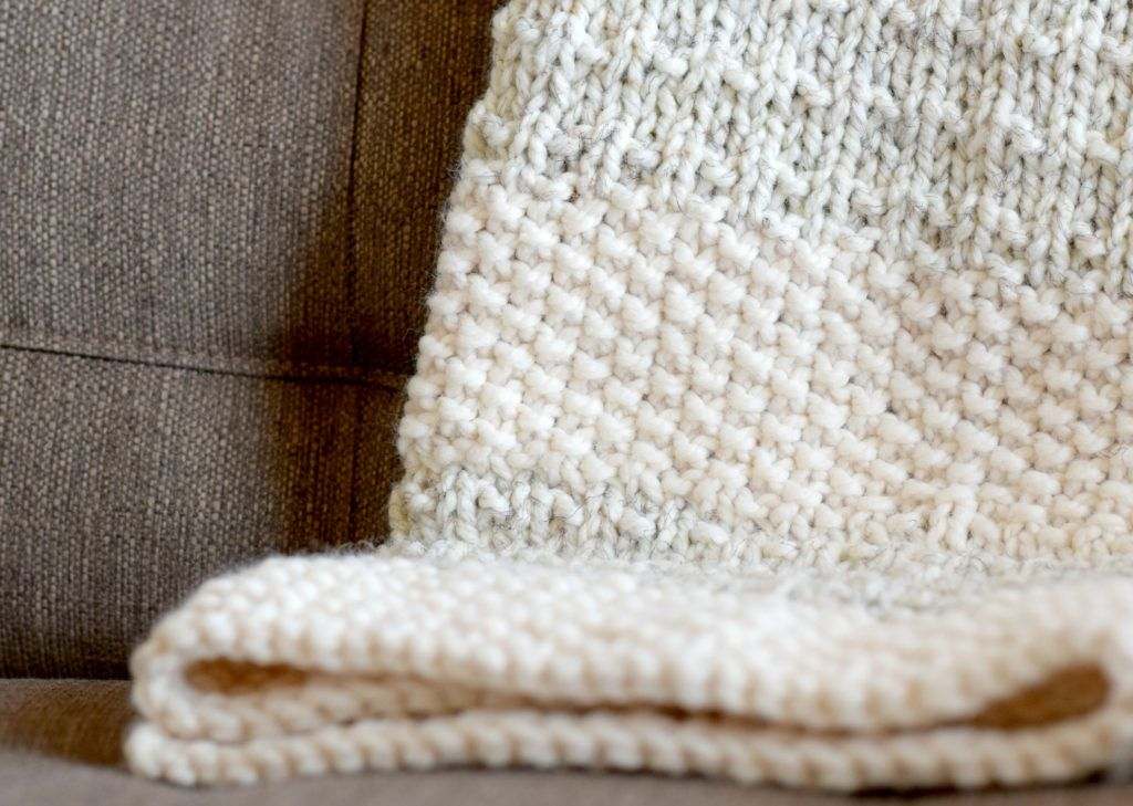 Easy Heirloom Knit Blanket Pattern | Puntadas