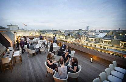 London Uk Rooftop Bar Aqua Roof Garden Resto London