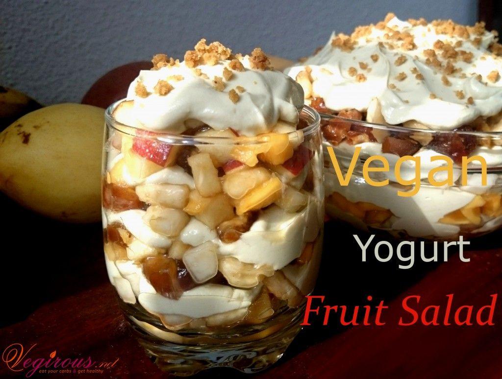 Vegan Yogurt Fruit Salad  #vegirousrecipe #vegirous #tofu #avocado #homemadeveganyogurt #veganyogurtfruitsalad #veganyogurt #veganrecipe