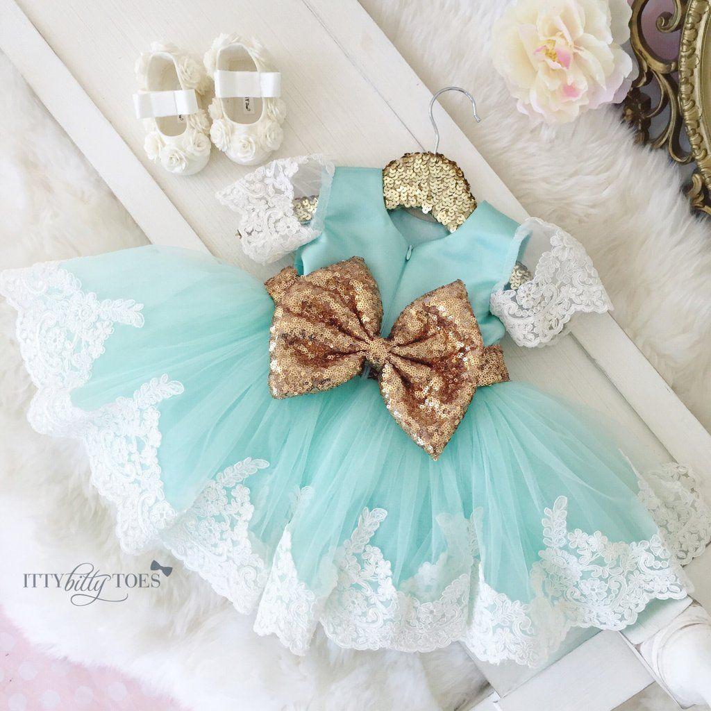 Princess Julia Dress (Mint)   Mint party, Princess and Babies