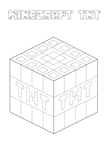 minecraft tnt coloring page  coloring pages