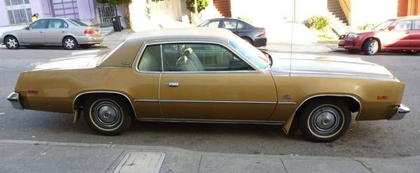 1975 Plymouth Fury Coupe 5500 Plymouth Fury Mopar Coupe