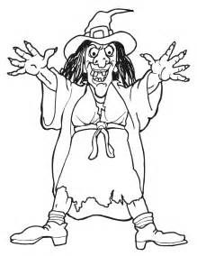 Witch Coloring Page 1 Scary Witch lments dtours Pinterest