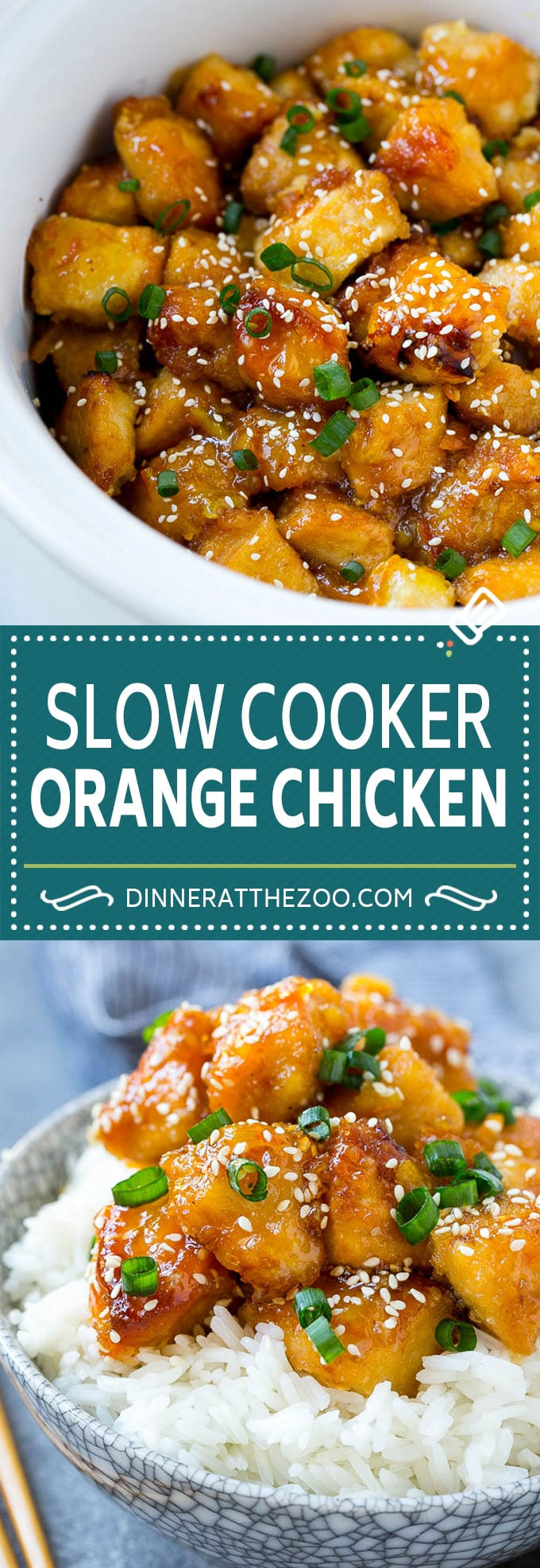 Slow Cooker Orange Chicken - Dinner at the Zoo