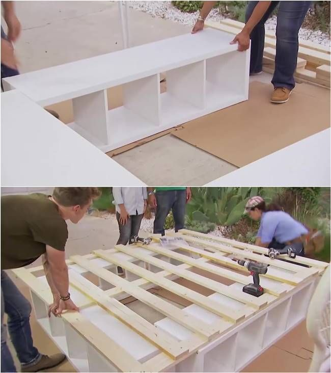 How To Build A Platform Bed With Storage Furniture Diy