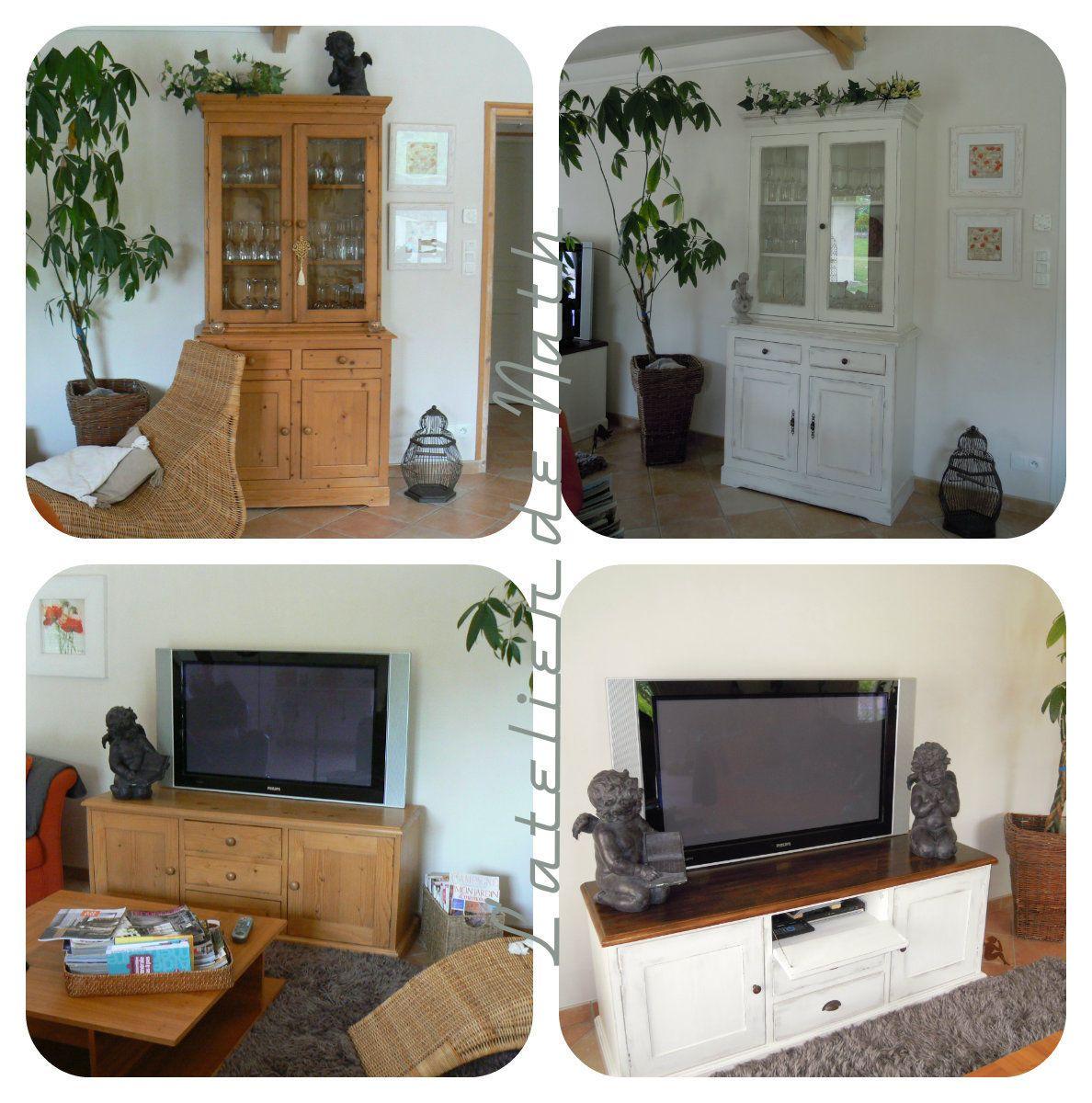 Buffet Et Meuble Tv En Pin Mobilier De Salon Relooking Meuble Deco Interieur Salon