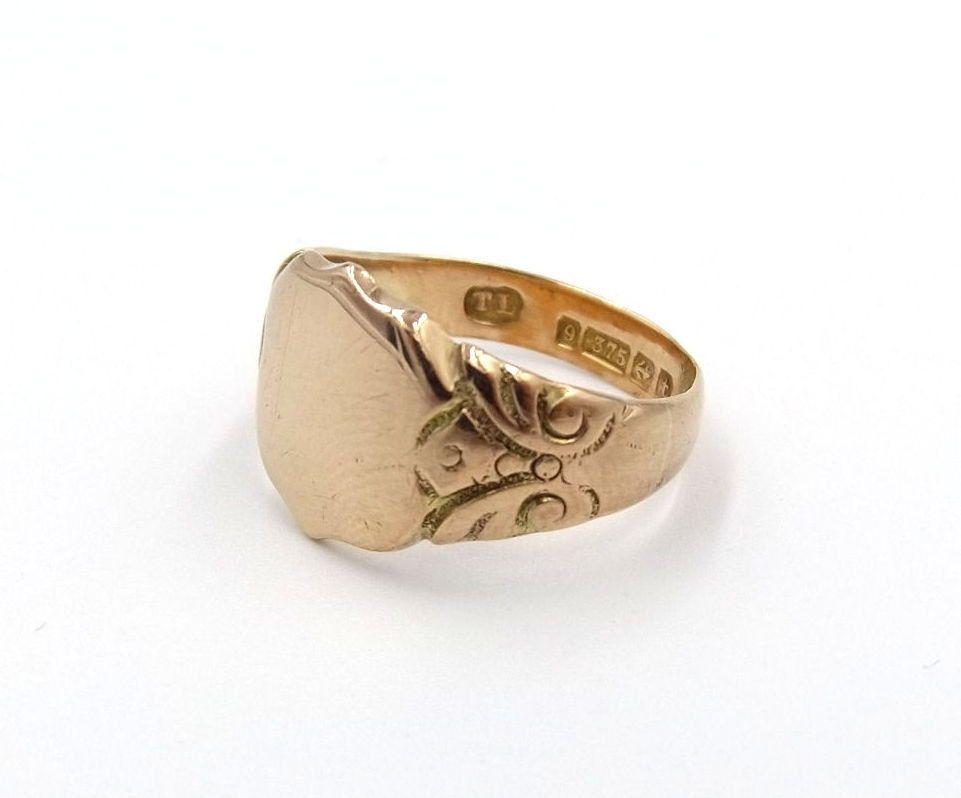Men\'s Antique 9ct Rose Gold Signet Ring | 9k Man\'s Ring | UK size Q ...