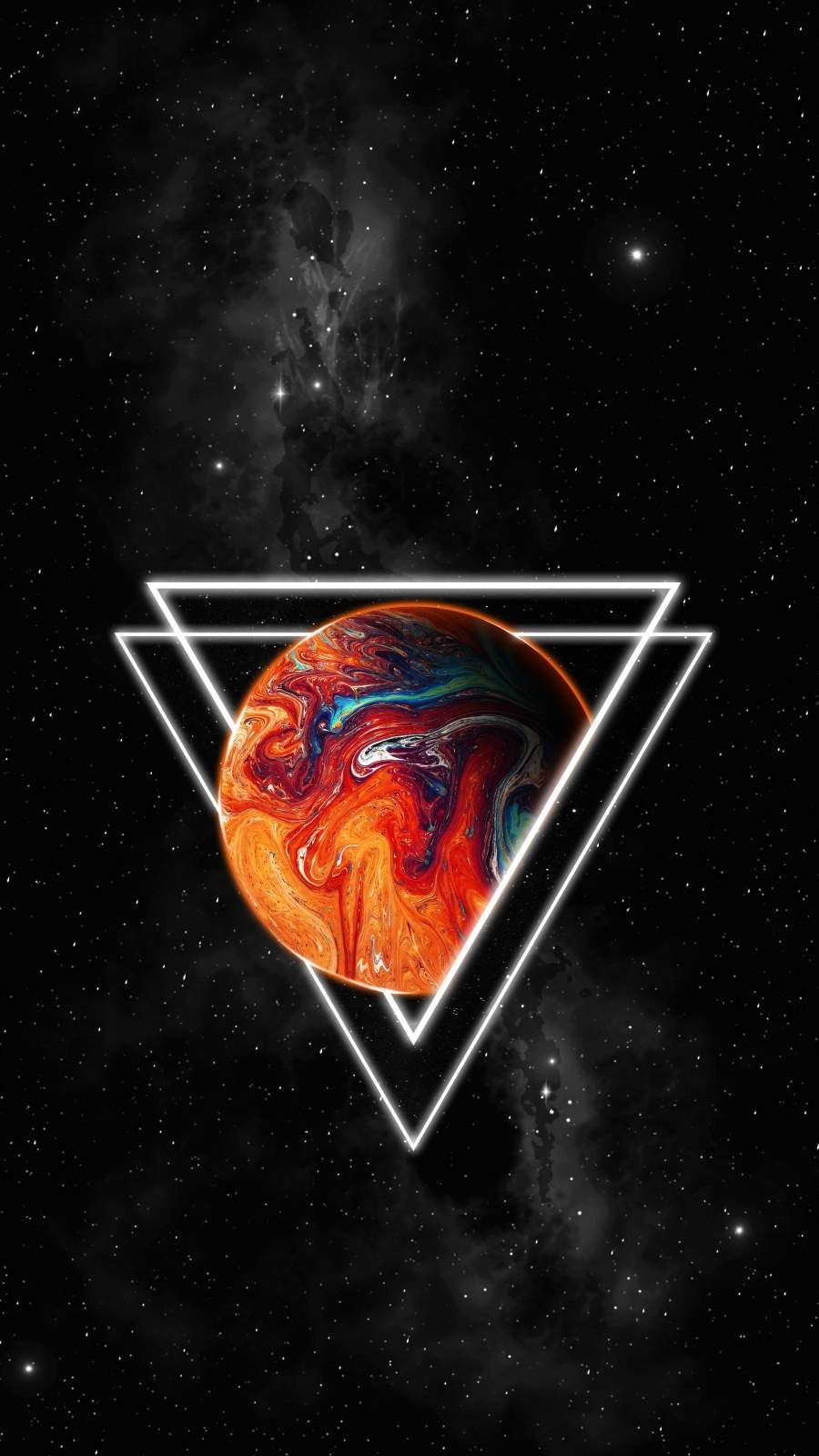 Triangle Space iPhone Wallpaper - iPhone Wallpapers