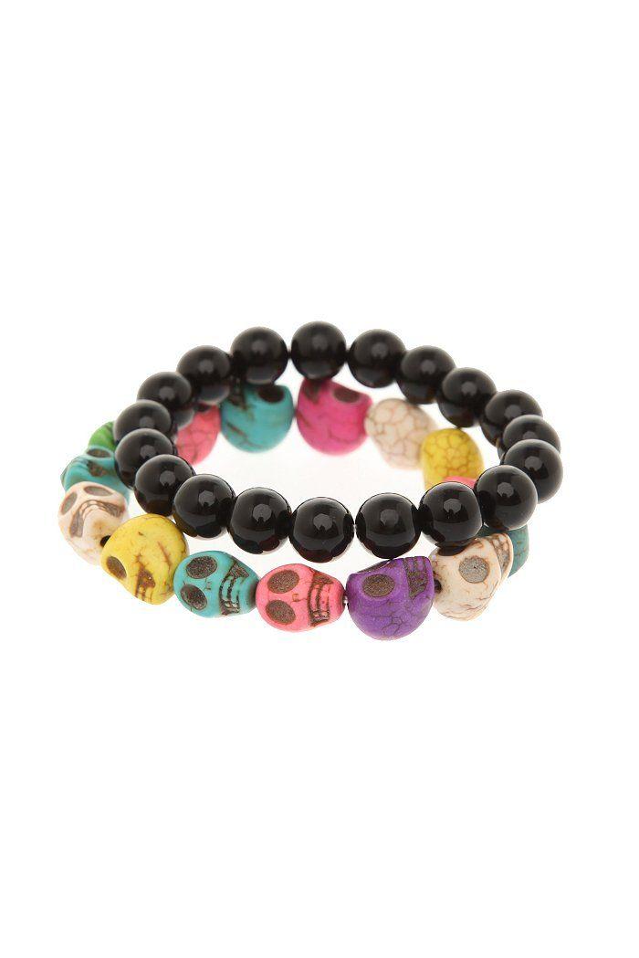 Skull bead bracelet 2 pack | $8.50 @ HT