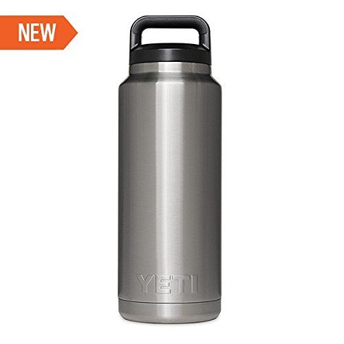 Yeti Rambler Bottle, Silver, 36 oz >>> Want additional info? Click on the image.