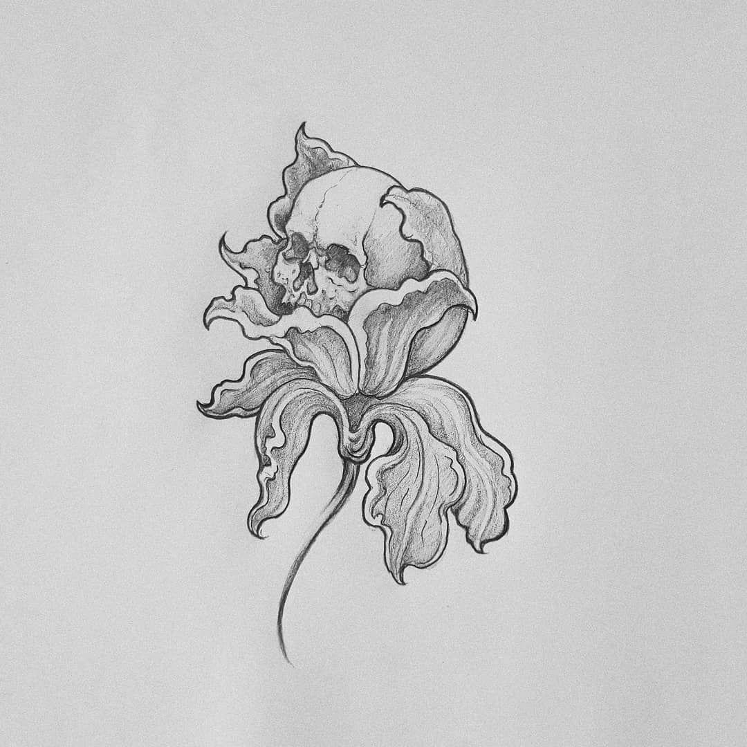 "𝕰𝖑𝖊𝖓𝖆 𝖟𝖆𝖍𝖊𝖗𝖆 on Instagram: ""Disponible . . . #drawing #skull #blacktattoo #darkartists #elenazaheratattoo"""