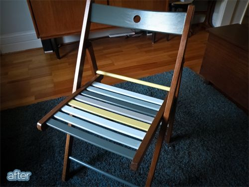 you have an ikea folding chair lying around that could