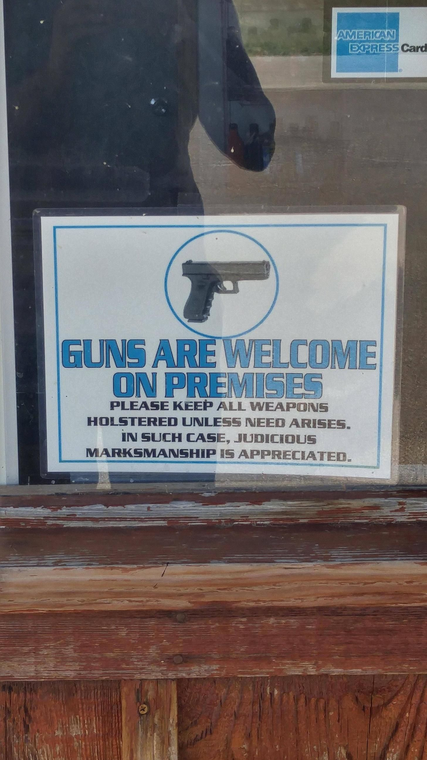 Sign at airport.... And yes it is in Texas