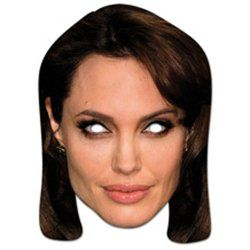 "High quality cardboard mask ""Angelina Jolie"" - Cool Masks / Project Fellowship"
