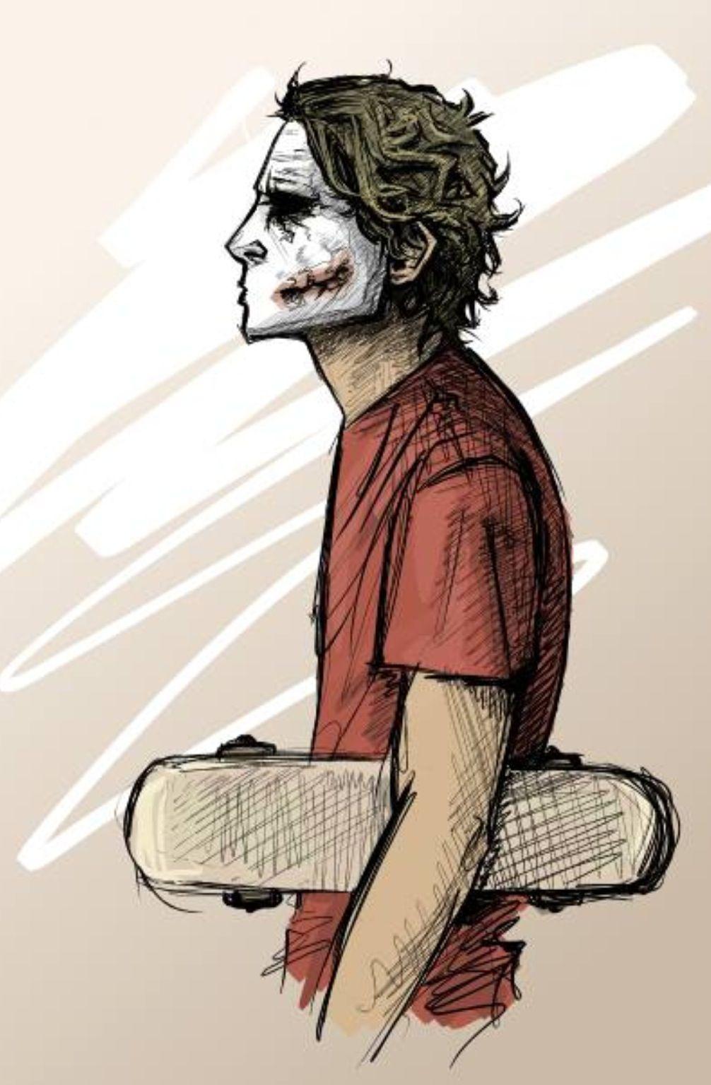 The Joker and his skateboard. Because he's the Joker