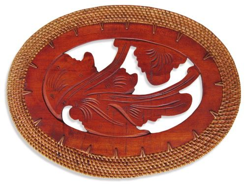Balinese Oval Timber Carved Placemats Placemats Timber Carving