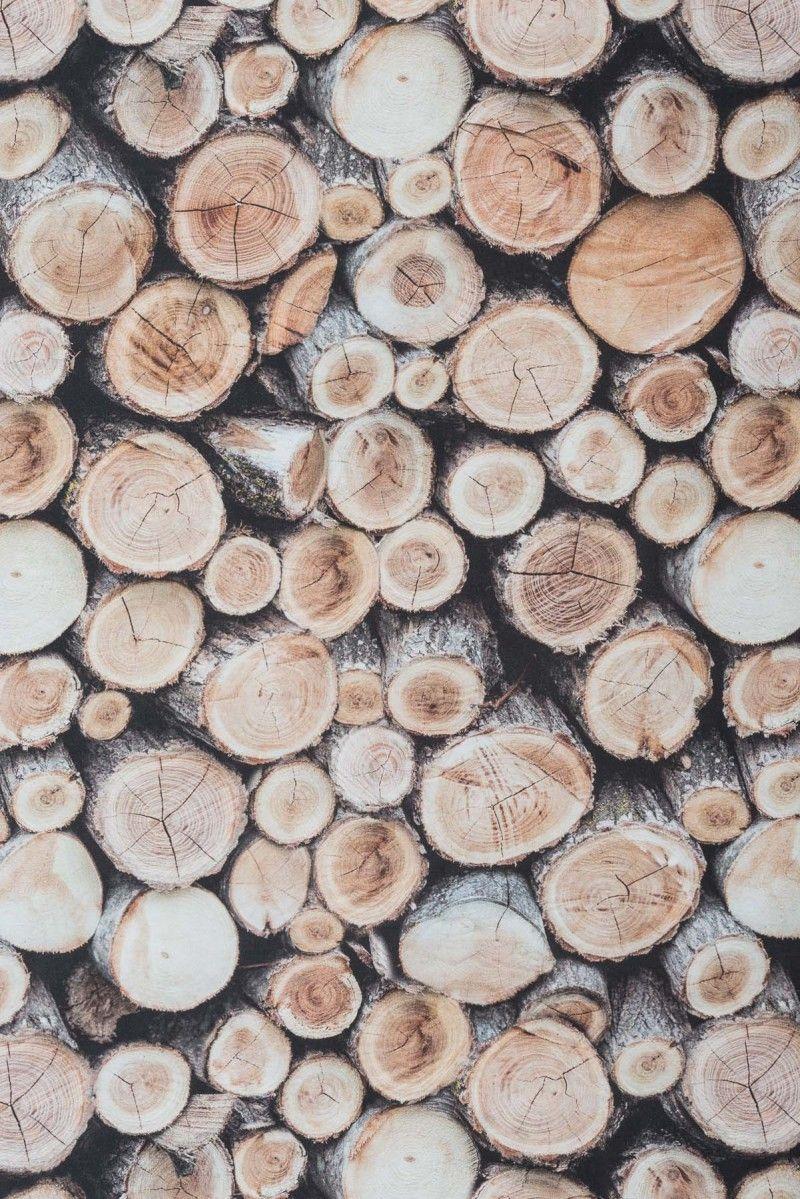 Souvent Tissu #ameublement #coton impression numérique rondins de bois  BX48
