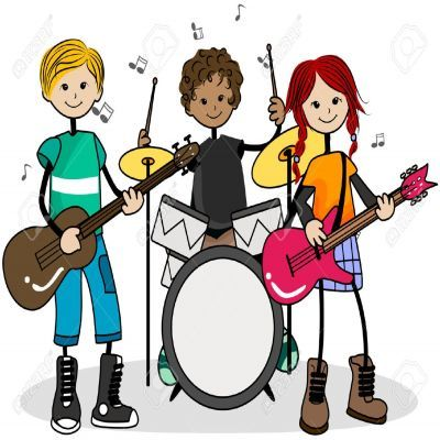 music clipart for kids rock star fun food crafts games for kids rh pinterest co uk