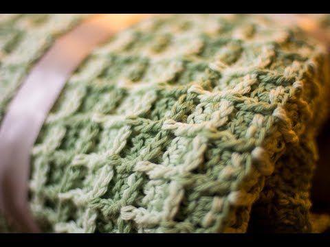 2 Mantita de bebe en punto waffle a crochet - YouTube | GANCHILLO ...