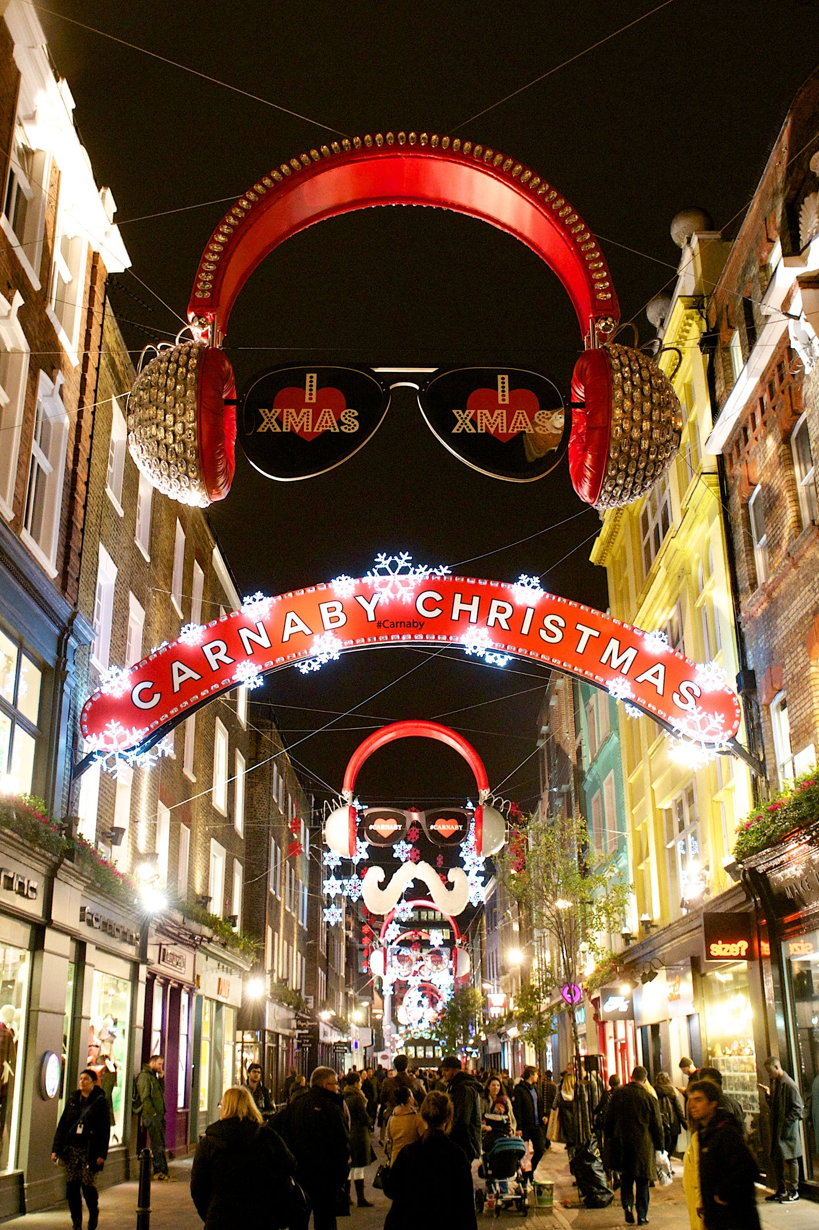 Carnaby Christmas Decorations Carnaby Street London Christmas Visit London Christmas Worldwide