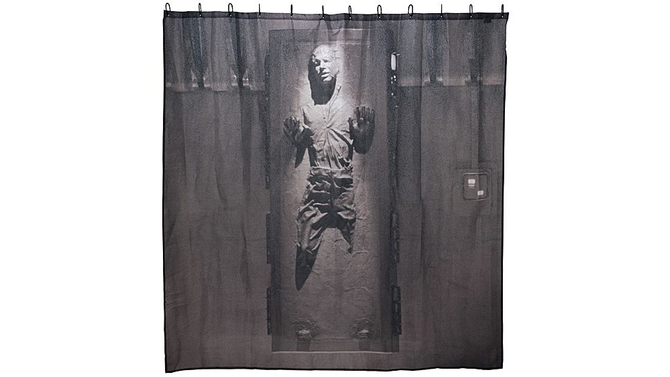 Han Solo Frozen In Carbonite Shower Curtain Don T Worry He Can T