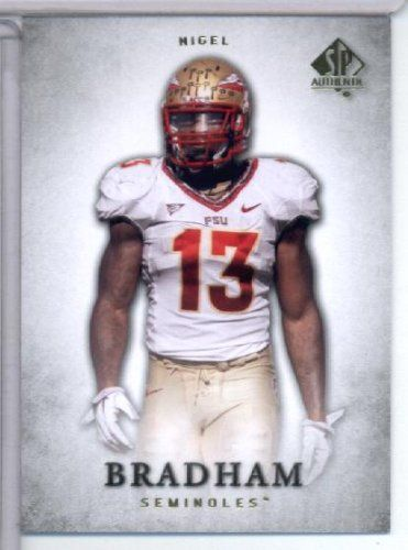 2012 Upper Deck SP Authentic # 69 Nigel Bradham RC - Florida State Simonoles (RC - Rookie Card) NFL Football Trading Card In Screwdown Holder! - http://nfledge.net/2012-upper-deck-sp-authentic-69-nigel-bradham-rc-florida-state-simonoles-rc-rookie-card-nfl-football-trading-card-in-screwdown-holder/ - 2012 Upper Deck SP Authentic # 69 Nigel Bradham RC – Florida State Simonoles (RC – Rookie Card) NFL Football Trading Card In Screwdown Holder! Product Features  Mint c