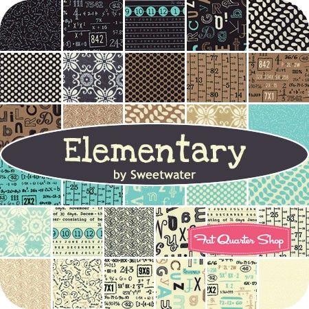 Elementary Fabric by Sweetwater Black White Dot  Moda Premium Cotton