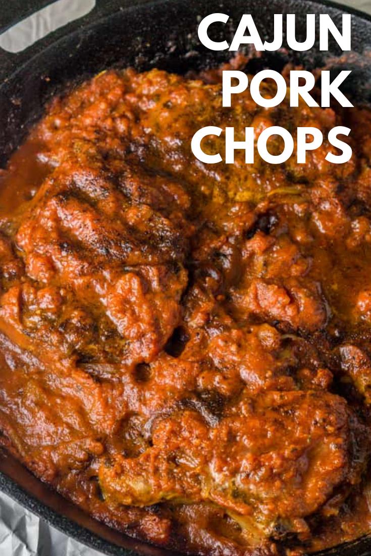 Cajun Pork Chops #cajundishes
