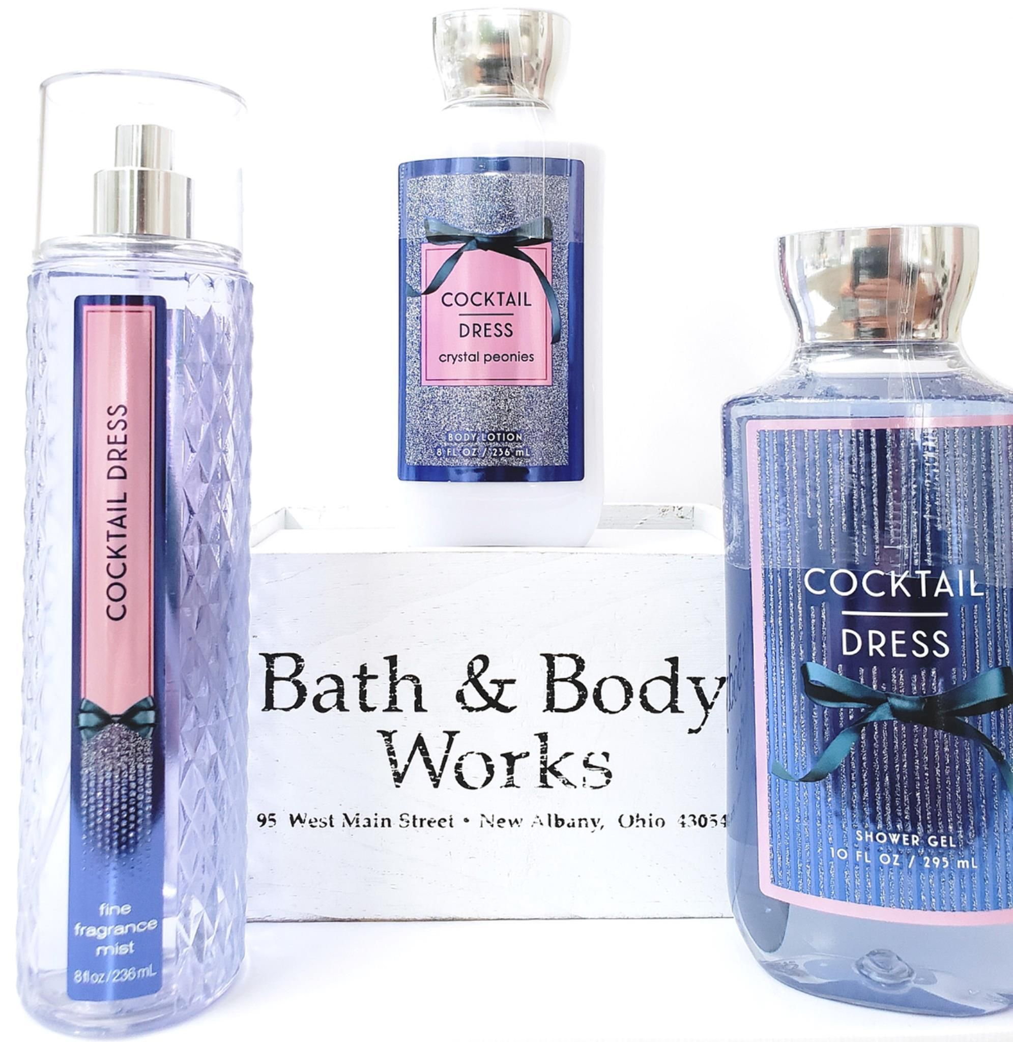 Bath Body Works Cocktail Dress Set Of 3 Body Lotion Fragrance Mist Bath Gel 1 Scents Bath 3 Bath And Body Works Body Spray Gift Bath Body Works Lotion [ 2048 x 1991 Pixel ]