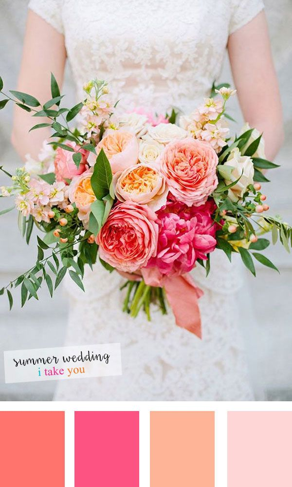 Summer Wedding colours : 10 Fresh Colour Combinations for Summer Wedding #peachideas