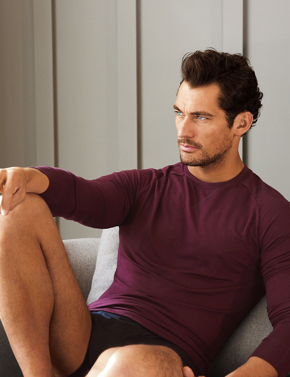 19b45d0b2d205 DAVID GANDY FOR AUTOGRAPH New Slim Fit Pyjama Top with Modal £25.00 ...