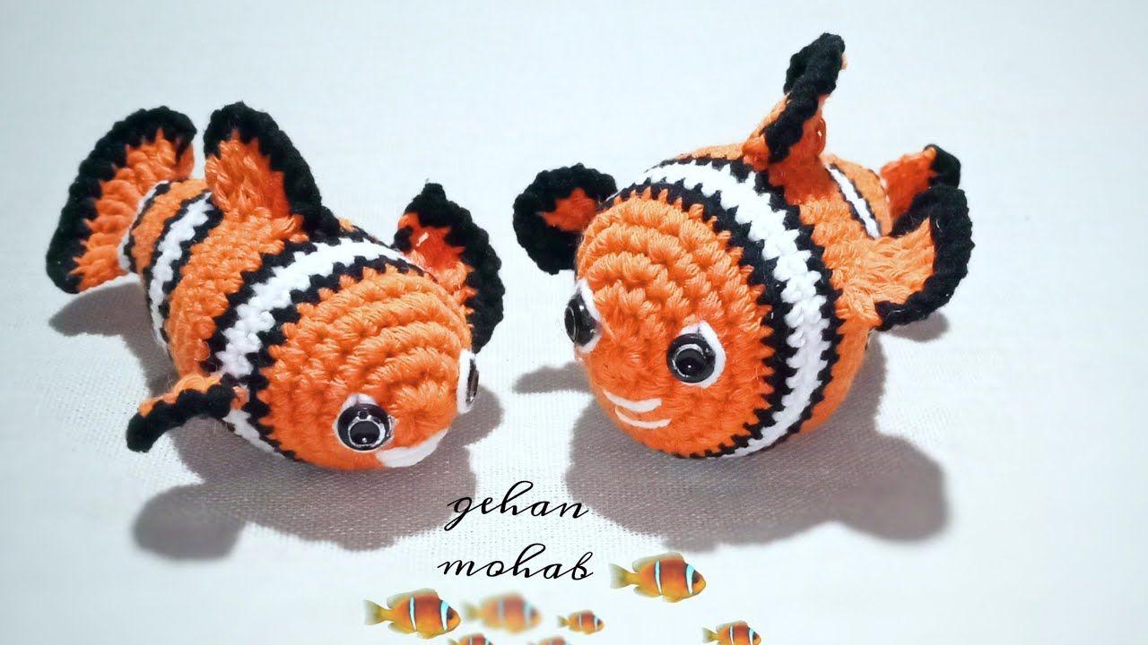 طريقة عمل سمكة نيمو كروشيه Nemo Amigurumi Crochet Free Crochet Crochet Patterns Free Crochet Pattern