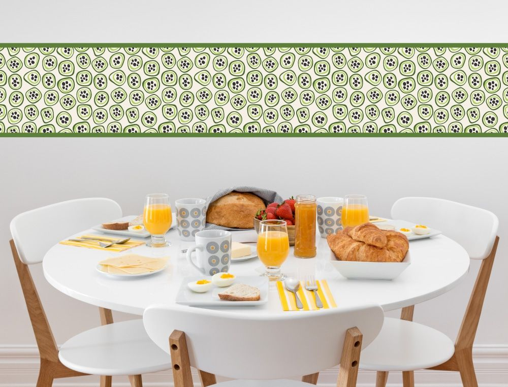 Maracuja Bordüre für die Küche - I-love-Wandtattoode Küchen - wandtattoo küche bilder