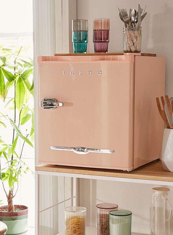 Cute Mini Fridge Via Urban Outfitters Retro Fridge Color Refrigerator Dorm Room Decor