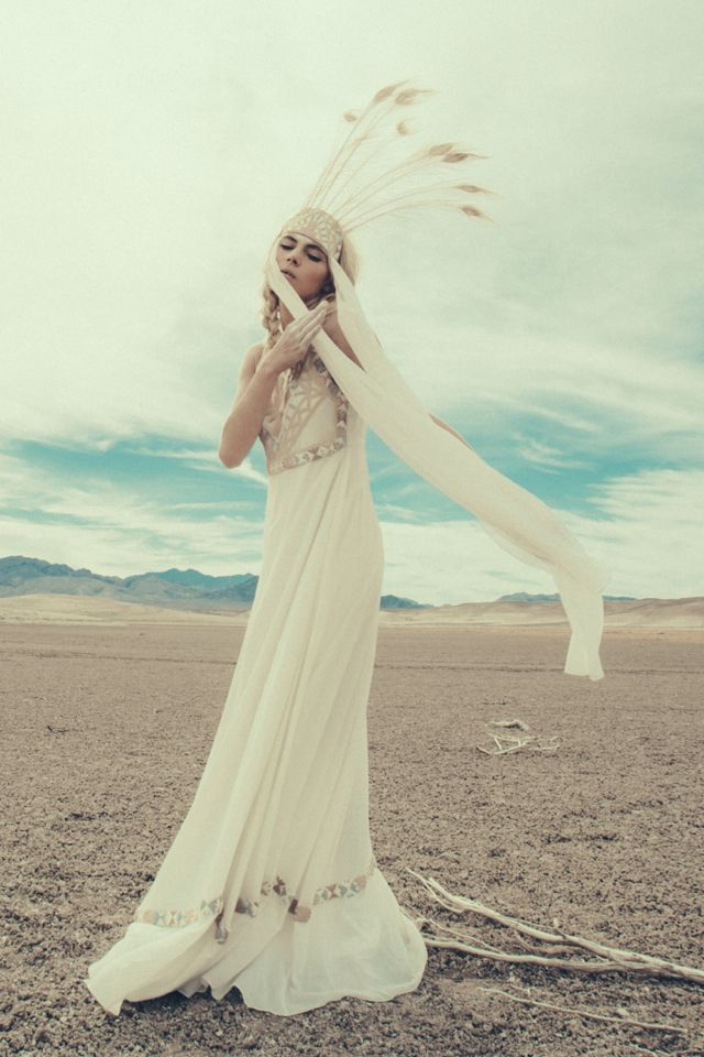 Mara Hoffman Goes Bridal With A Shoot In Valley