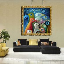 diy painting by number van gogh oil painting reproductions pengun dreams 30*30/40*40/50*50CM(China (Mainland))