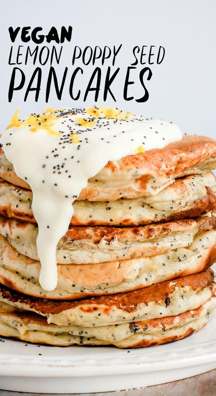 Lemon Poppy Seed Pancakes Vegan  Wallflower Kitchen  Food
