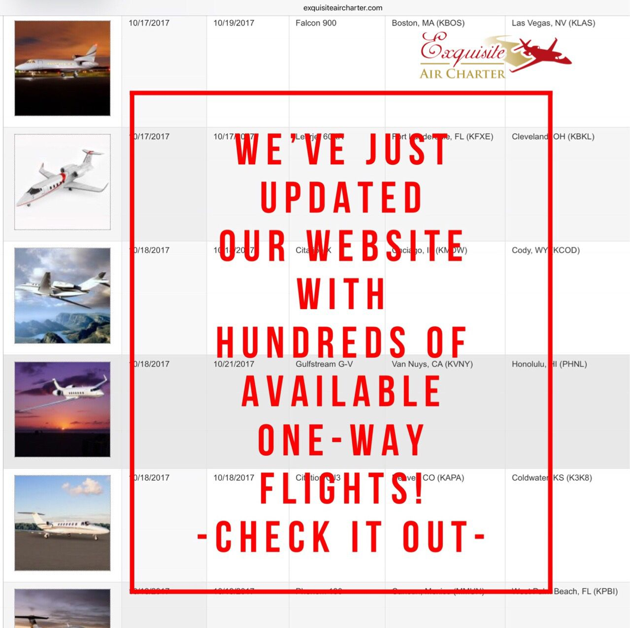 Discounted One Way Flights Exquiste Air Charter Air Charter Private Jet Flights Flight Discounts