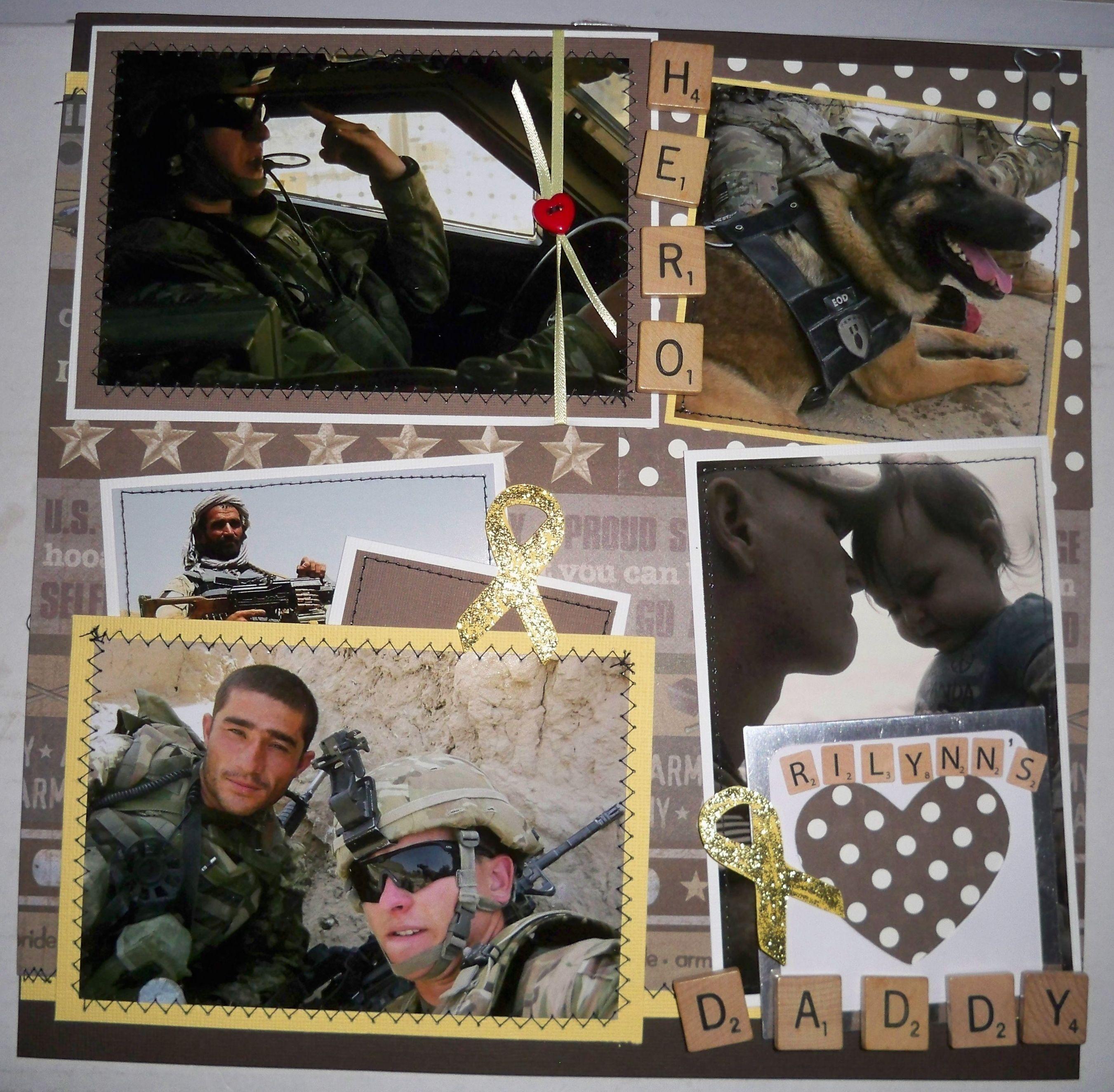 Scrapbook ideas military - Army Life Scrapbook Com