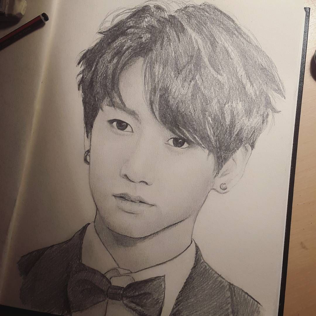Jungkook Bts Drawings: Jungkook Fanart (who Did This?)