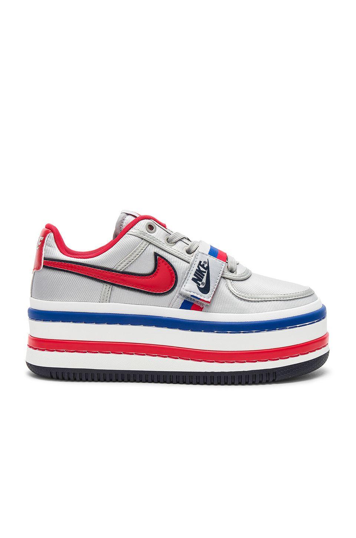 27fd097e4b6 Nike Vandal 2K Platform Sneaker in Metallic Silver   University Red ...