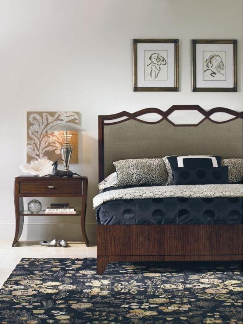 419165 In By Century Furniture Samuel S Ferndale Wa Ogee Upholstered Headboard Queen Size 5 0