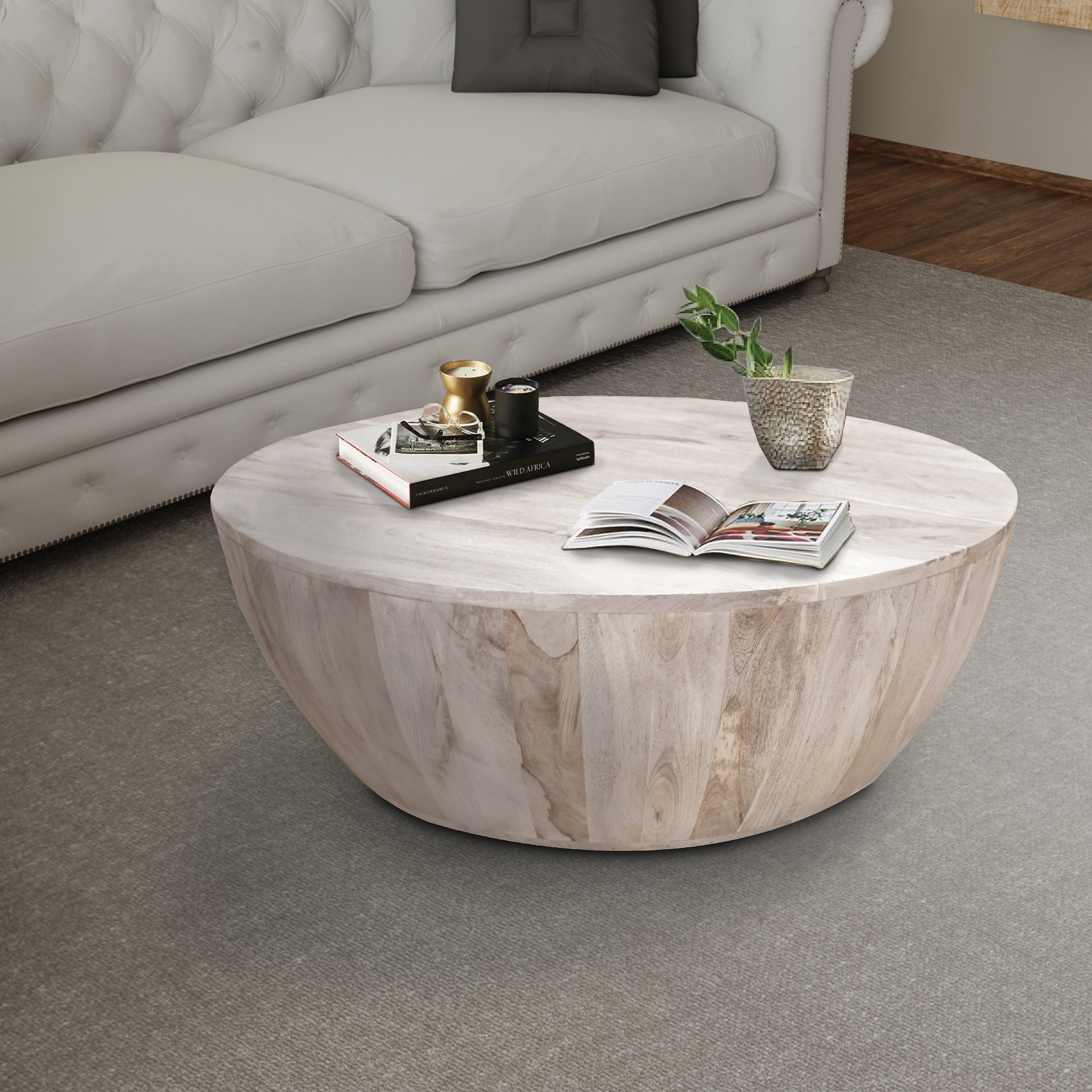 This Round Shape Coffee Table Is Made From Mango Wood And Features A Smooth Wide Top That Can Mango Wood Coffee Table Round Wood Coffee Table Coffee Table Wood [ jpg ]
