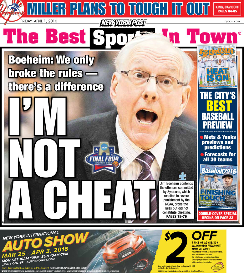 #20160401 #USA #NYC Friday APR 01 2016 #NYP #NewYorkPost20160401 http://en.kiosko.net/us/2016-04-01/np/newyork_post.html + http://nypost.com/cover/covers-for-april-1-2016/