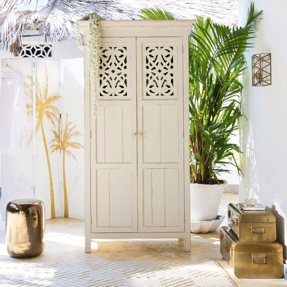 armoire 2 portes ayanna en manguier