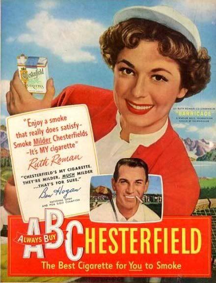1950 Ruth Roman and Ben Hogan for cigarettes