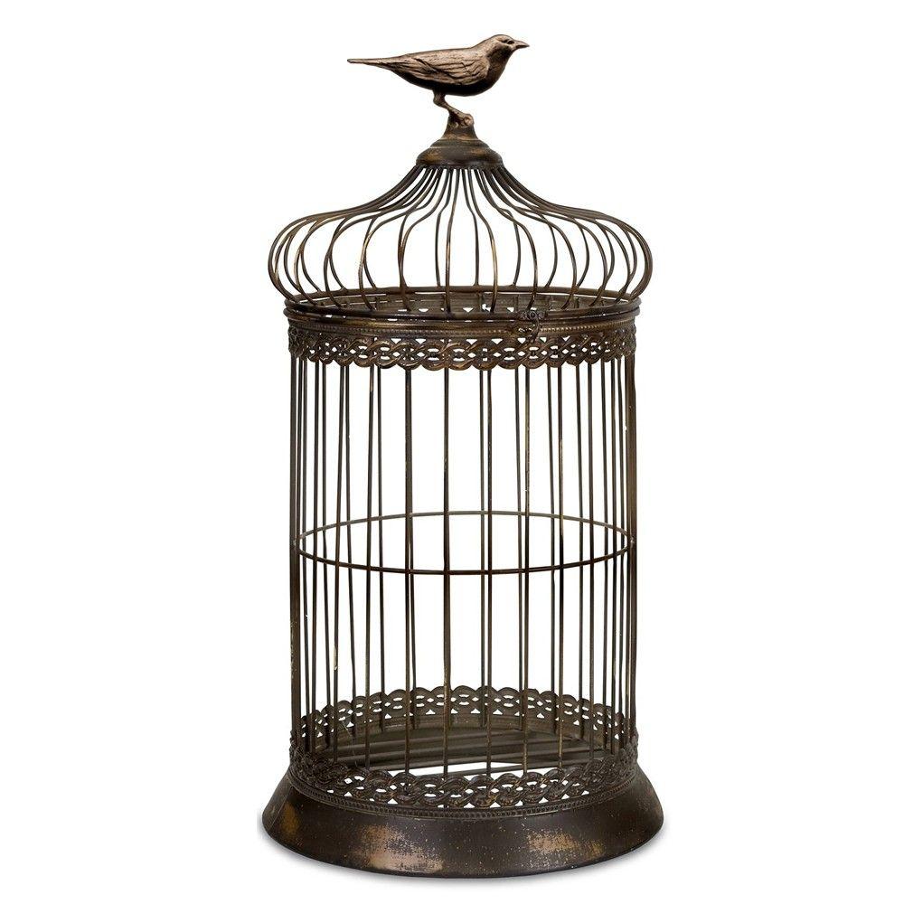 Wedding Décor Direct - Rustic Bronze Wedding Birdcage Centrepiece ...