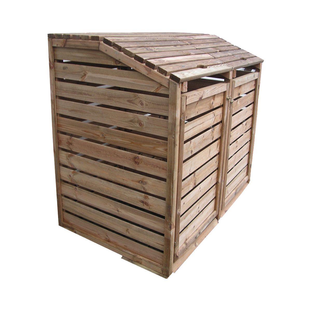 cache poubelle bois skagen | poubelle, bois et poubelle exterieur