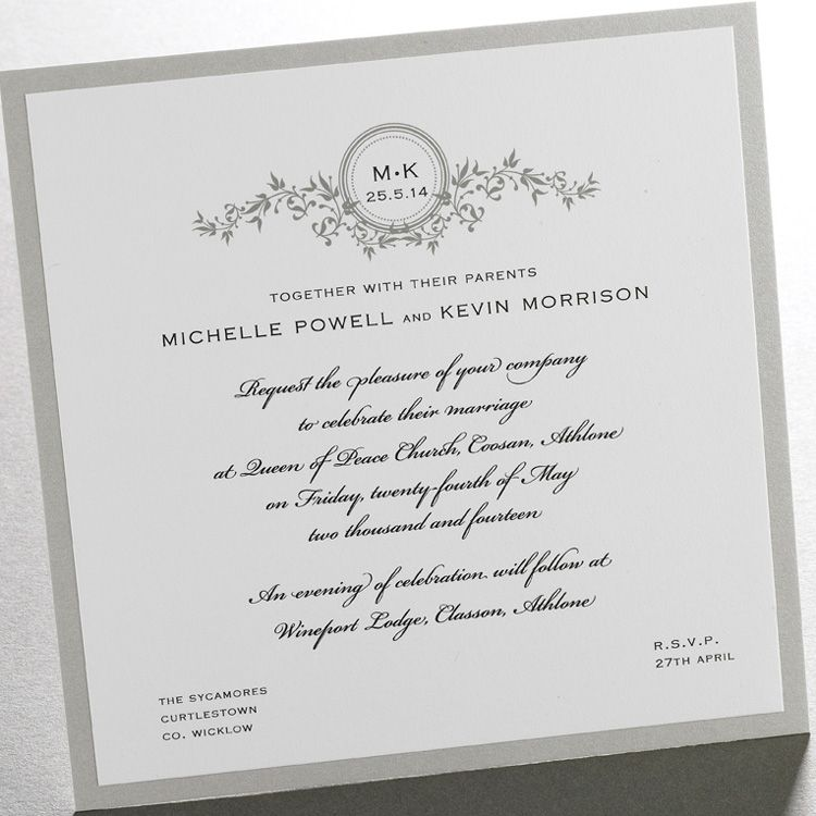 Vintage Vines\' wedding invitation - but want it less scripted ...