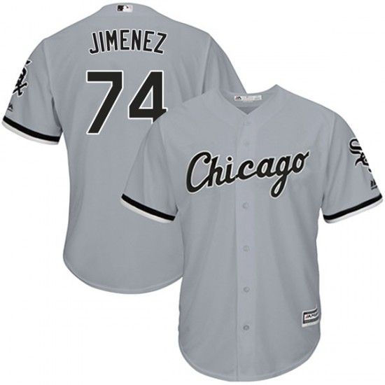 purchase cheap 6b1bf e0312 Road Gray Eloy Jimenez Jerseys - White Sox by Majestic 4xl ...